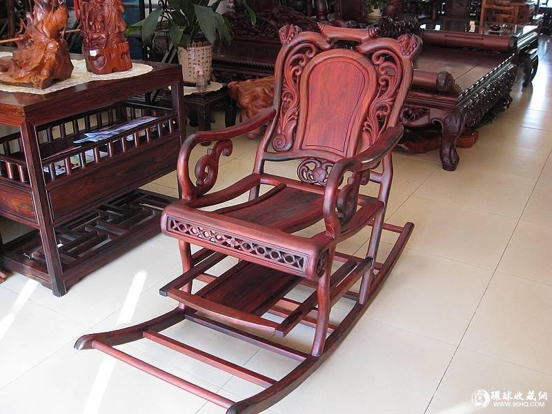 红酸枝木摇椅