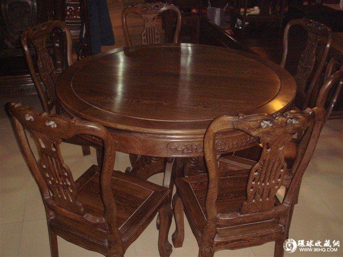 鸡翅木圆桌