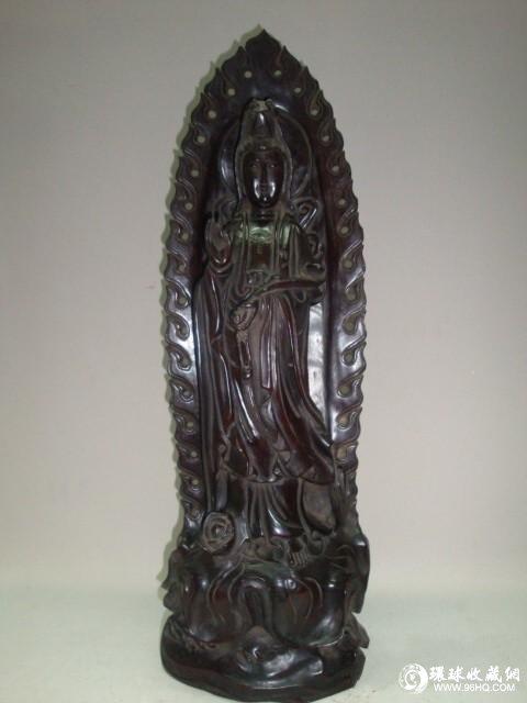 紫檀木雕像图片