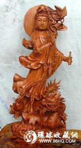 酸枝木雕像图片