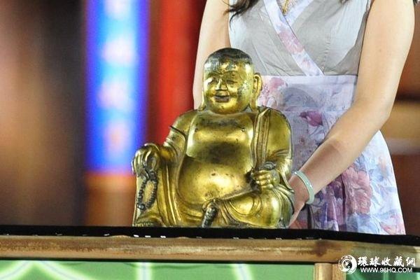 明代的铜镏金大肚弥勒佛像