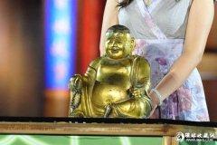 铜镏金大肚弥勒佛像夺奉化民间国