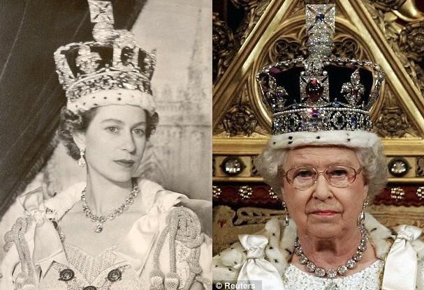 原石重1斤多的钻石在英国女王首饰展展览