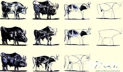 毕加索画牛 高清图片