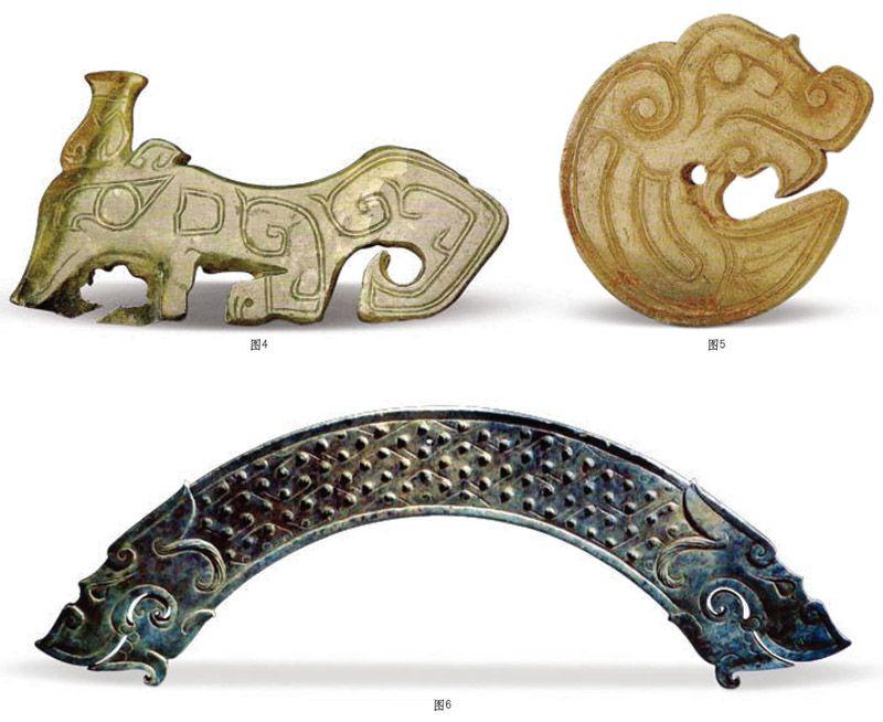 古玉久埋地下会出现种种变化,玉的有些外观和内在变化并不是矿物化学作用所致,甚至不是沁。古人不明其究竟,或者加以神秘化,或者出自主观臆想,让人不知所云,知其成因的尚可理解,一些似沁非沁的玉色变化还必须依据现代的科技研究成果和考古发掘的详细资料来认识辨明。玉的变化在此姑且称它为沁相。   冰裂纹:是因玉质本身在内部应力作用下产生的绺裂,在自然环境中年深日久的作用下,加之其他物质缓慢浸染,绺裂纹会日渐明显,颜色也会逐渐加深,有向周围扩散的现象。沁纹多呈凹陷现象,边缘呈锯齿状。这种冰裂纹目视可见,抚之无痕,
