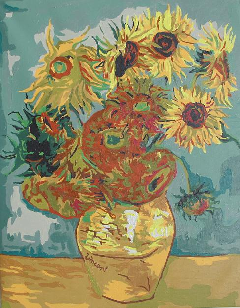 梵高 向日葵 赏析 阳光在画面上大放光芒 2