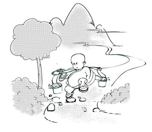 """树林 小和尚=100分(仅为示意图) 宋徽宗的考试方式叫""""诗题取士"""",这种"""