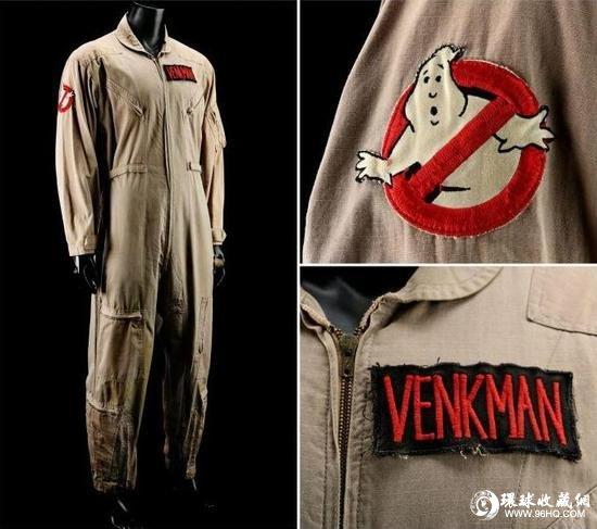 1984年上映的《捉鬼敢死队》中,比尔・默瑞穿过的捉鬼队队服。预计成交价6600至8800欧元。