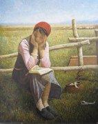 邢晓林油画《微风》