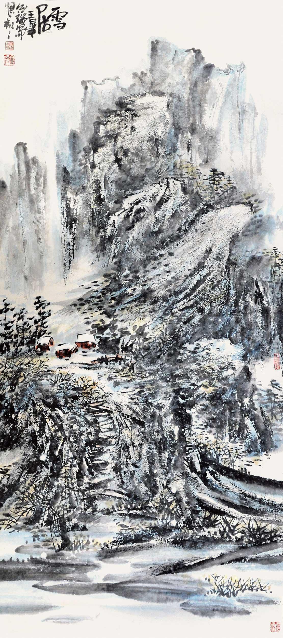 【雪居】杨金瑞 中国画拍卖作品